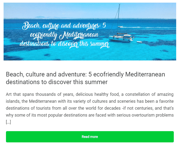 5 ecofriendly Mediterranean destinations to discover this summer Wayaj